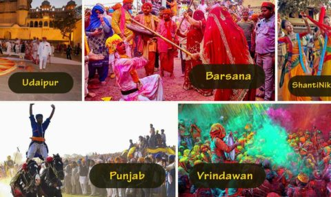 7 Most Popular Places (7 ways) to Celebrate Holi in India